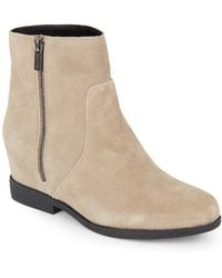 Kenneth Cole Reaction - Suede Flat Ankle Boots - Lyst
