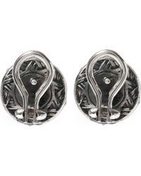 Stephen Dweck - Silver Moonstone Flower Stud Earrings - Lyst