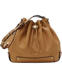 Vince Camuto Jill Leather Drawstring Bag - Lyst