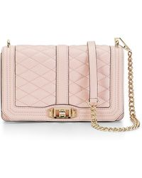 Rebecca Minkoff Gold Love Crossbody - Lyst