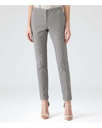 Reiss Leone Pinstripe Tapered Trousers - Lyst
