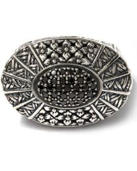 Stephen Dweck - Oval Ring With Black Diamond Pave Centre - Lyst
