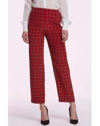 Chanel | Vintage Viviane Silk Tartan Trousers | Lyst