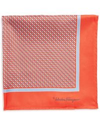 Ferragamo Gancini Silk Pocket Square - Lyst