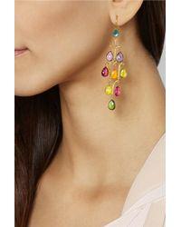 Munnu - 22-Karat Gold Tourmaline Earrings - Lyst