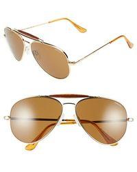 Randolph Engineering - 'sportsman' 61mm Aviator Sunglasses - Lyst