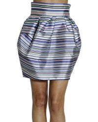 Dior Skirt Stripe - Lyst