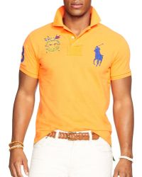 Ralph Lauren Polo Custom Big Pony Mesh Polo Shirt  - Lyst
