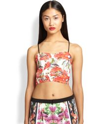 Clover Canyon Frederick Printed Crop Top - Lyst