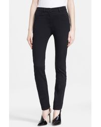 T By Alexander Wang Stretch Sateen Jeans - Lyst