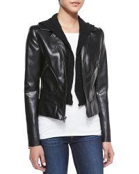 Bailey 44 Jib Knitfauxleather Moto Jacket As Large8 - Lyst