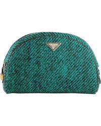 Prada Wool Boucle Bowler Clutch - Lyst