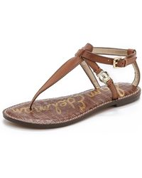 Sam Edelman Galia Thong Sandals - Saddle - Lyst