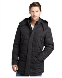 Zegna Sport - Anthracite Wool-Cashmere Hooded Down Filled Coat - Lyst