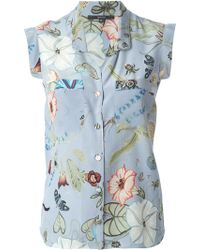 Gucci 'Flora' By Kris Knight Sleeveless Top - Lyst