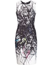 Yigal Azrouel Branch Print Dress - Lyst