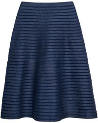 Cynthia Rowley Denim Mesh Midi Skirt blue - Lyst