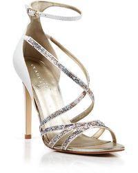 Ivanka Trump Open Toe Evening Sandals - Hyde High Heel - Lyst