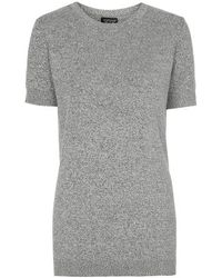 Topshop Salt And Pepper Knitted Top - Lyst
