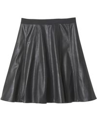 Rebecca Taylor Faux Leather Flounce Skirt - Lyst