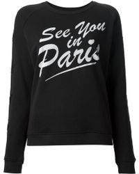 Zoe Karssen See You in Paris Sweatshirt - Lyst