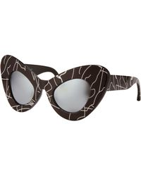 Jeremy Scott Cat Eyes Sunglasses - Lyst