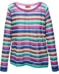 Missoni Fine Knit Stripes Sweater - Lyst