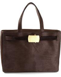 Calvin Klein Buckled Tote Bag - Lyst
