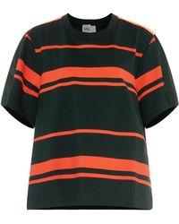 Kolor Lace-Panel Cotton-Jersey T-Shirt - Lyst