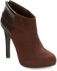 Jessica Simpson Audriana Mixed-Media Ankle Boots - Lyst
