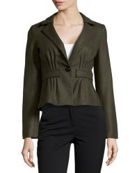 Nanette Lepore Wool-Blend One-Button Jacket - Lyst