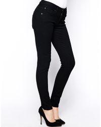 James Jeans Twiggy Washed Black Skinny 5 Pocket Legging Jeans - Lyst