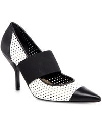 Michael Kors Andorrah Runway Bicolor Perforated Leather Pumps - Lyst