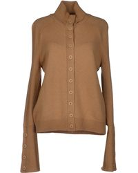 Balenciaga Brown Cardigan - Lyst