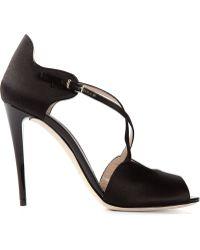 Emporio Armani Crossed Straps Sandals - Lyst