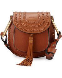 chloe purses - Chlo�� Hudson Small Suede Shoulder Bag in Purple | Lyst