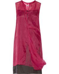 Acne Studios Draped Silk-organza Dress - Lyst