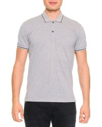 Dolce & Gabbana Tipped Polo Shirt With Logo - Lyst