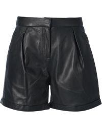 Muubaa Leather Shorts - Lyst