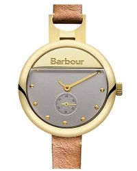 Barbour - 'heritage' Leather Strap Watch - Lyst
