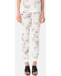 Tibi 'Stencil Pajama' Print Silk Jogging Pants - Lyst