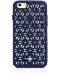 Tory Burch Perforated Silicone Iphone 6 Case black - Lyst