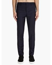 Maison Martin Margiela Navy 14 Mens Wool Slim Fit Trousers - Lyst