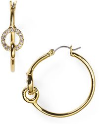 T Tahari - Knot Hoop Earrings - Lyst
