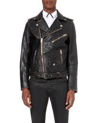 Diesel L-Umenirok Leather Biker Jacket - For Men black - Lyst