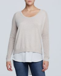 DKNY Double Layer Sweater - Lyst