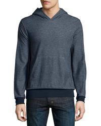 Theory - Danen Replika Melange Hooded Sweatshirt - Lyst