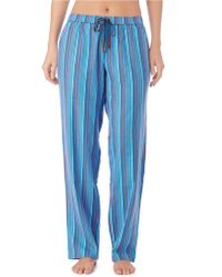 DKNY Patterned Flannel Pants - Lyst