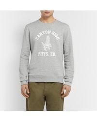 A.P.C. Printed Cotton-Blend Jersey Sweatshirt - Lyst