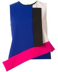 MSGM   Asymmetric Colour Block Top   Lyst